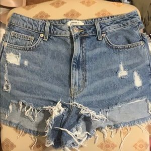 high waisted jean shorts - worn once!